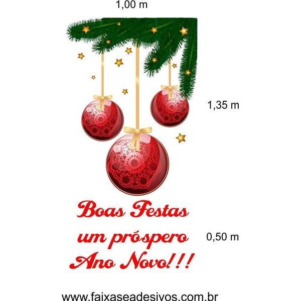 Cantoneira de Natal Estrelado (Comp. e Simples)  - Fac Signs
