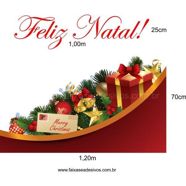 Adesivo Barrado Enfeites de Natal 1,20 x 0,70m + 1,00 x 0,25m  - Fac Signs