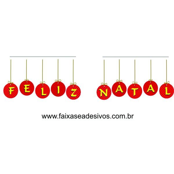 Adesivo Feliz Natal Bolas (P-M-G)  - Fac Signs