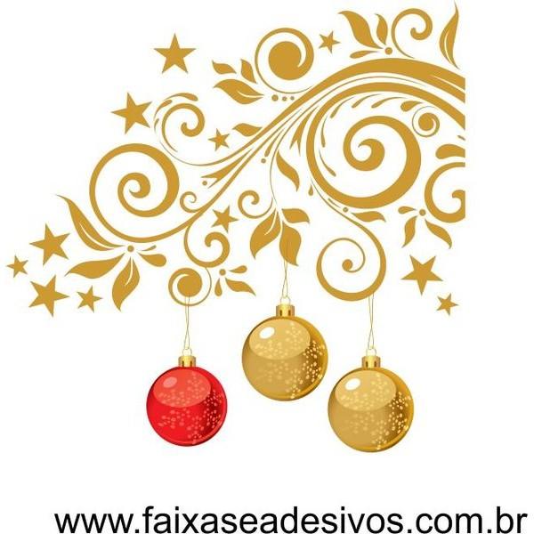 Adesivo Cantoneira de Natal Floral 1,40 x 1,40  - Fac Signs