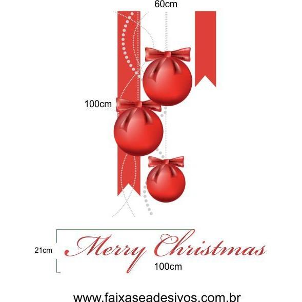Adesivo Bolas de Natal Flamulas  - FAC Signs Impressão Digital