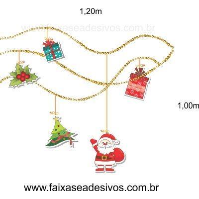 Adesivo Penduricalhos de Natal 1,20 x 1,00m  - Fac Signs