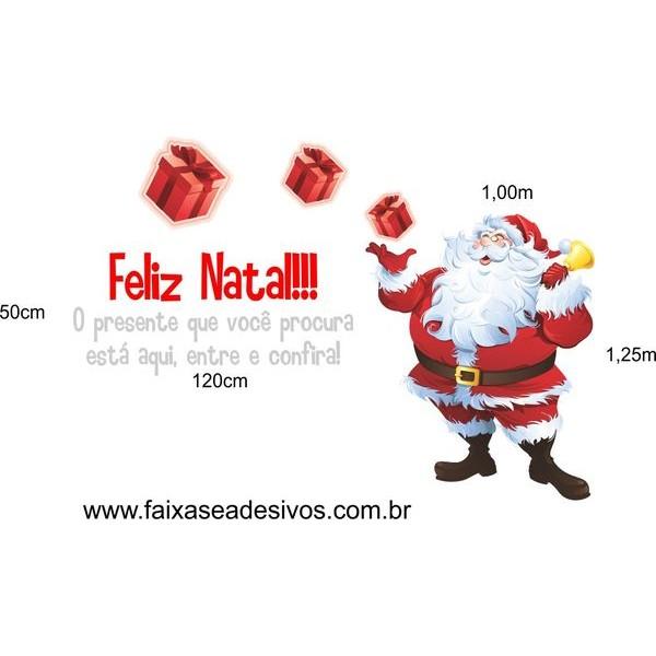 Adesivo Papai Noel dos Presentes  - Fac Signs