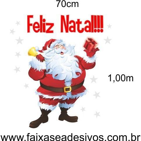 Adesivo Papai Noel Feliz 1,00 x 0,70m  - Fac Signs