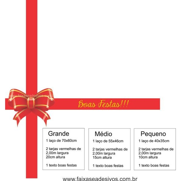 Adesivo Laço Charmoso de Natal (P-M-G)  - Fac Signs