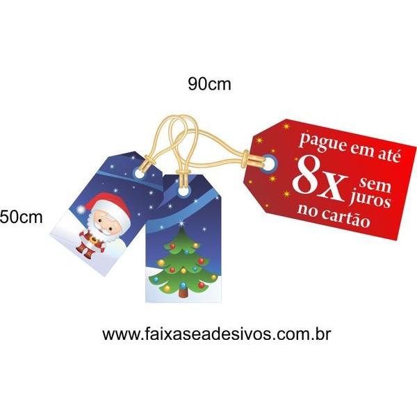 Adesivo Natal Tag Divertido 8x 90 x 50cm  - Fac Signs