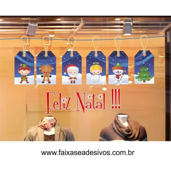 Adesivo Natal Tag Kids 1,50 x 0,70m  - Fac Signs