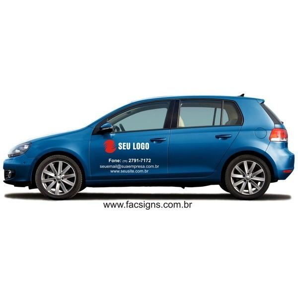 Adesivo para porta de carro 50x70cm com logo em recorte até 2 cores  - FAC Signs Impressão Digital