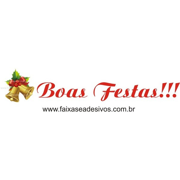 Adesivo Sino Boas Festas 1,00 x 0,20m  - Fac Signs