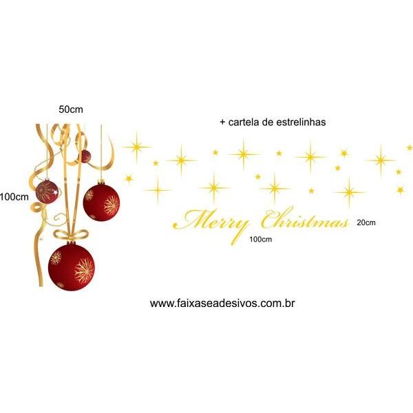 Adesivo Bolas de Natal Fitas Compact  - Fac Signs
