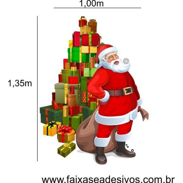 Adesivo Papai Noel Arvore de Presentes 1,35 x 1,00m  - Fac Signs