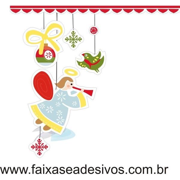 Adesivo Anjinho de Natal (P-M-G)  - Fac Signs