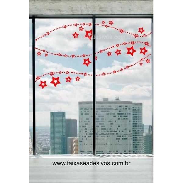 Adesivo Corrente de Natal 1,50 x 0,90m  - Fac Signs