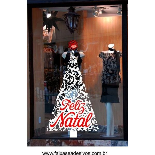 Adesivo Arvore de Natal Floral - 2532  - Fac Signs