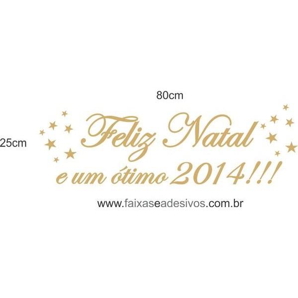 Adesivo Texto Feliz Natal 2014 - 80 x 25cm  - Fac Signs
