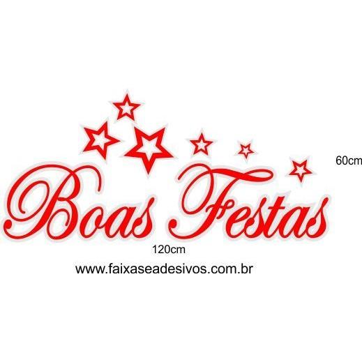 Adesivo Boas Festas Star 1,20 x 0,60m  - Fac Signs