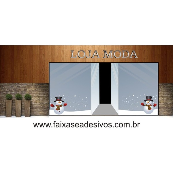Adesivo Barrado Boneco de Neve 1,00 x 0,50m  - Fac Signs