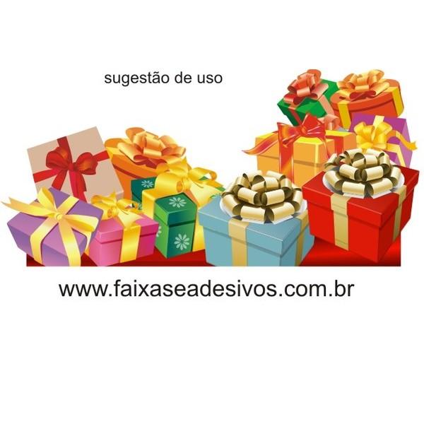 Adesivo Natal Caixas Presente e Barrado 1,20 x 1,00m  - Fac Signs