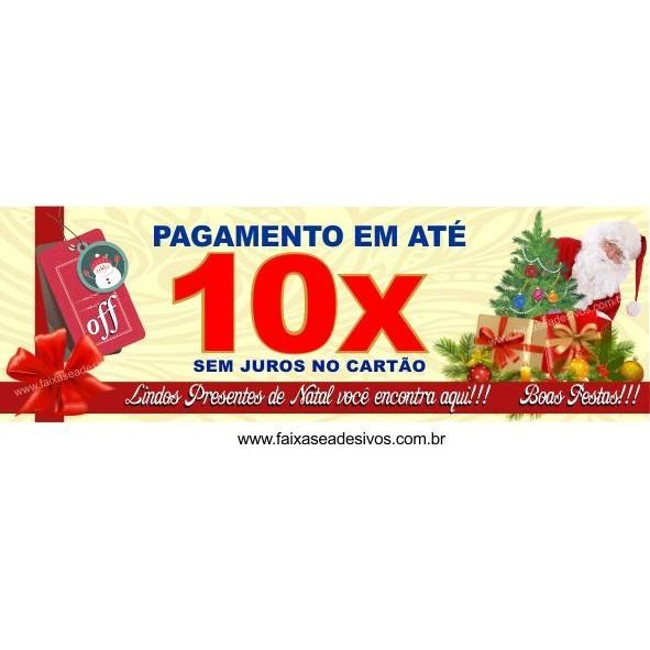 Faixa de Natal 10x sem juros 3,00 x 1,00m  - Fac Signs