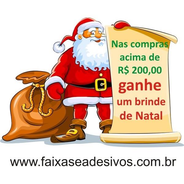 Adesivo Papai Noel Pergaminho P-M-G  - Fac Signs