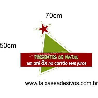 Adesivo Decorativo para Vitrine Natal Basic 70 x 50cm  - Fac Signs