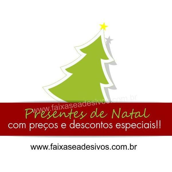Adesivo Decorativo para Vitrine Natal Tradicional 90 x 60cm  - Fac Signs
