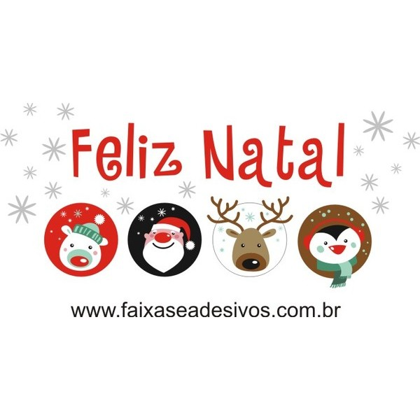Adesivo Feliz Natal Kids P-M-G  - Fac Signs