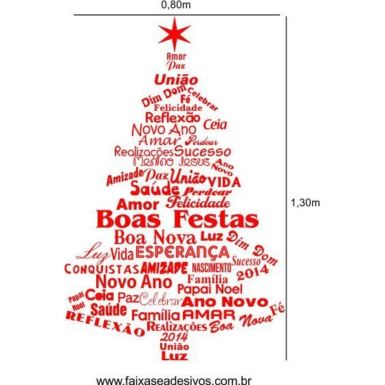 Adesivo Pedidos de Arvore de Natal - 2529  - Fac Signs