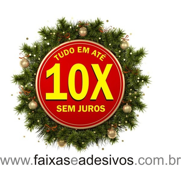 Adesivo Guirlanda 10x - 1,00 x 1,00m  - Fac Signs