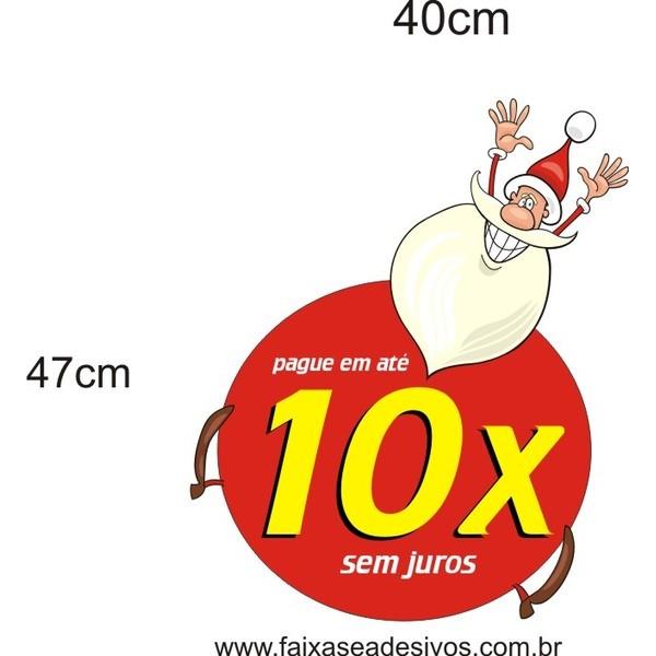 Adesivo Papai Noel Divertido 40 x 47cm  - Fac Signs