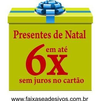 Adesivo Presente de Natal 50 x 40cm  - Fac Signs