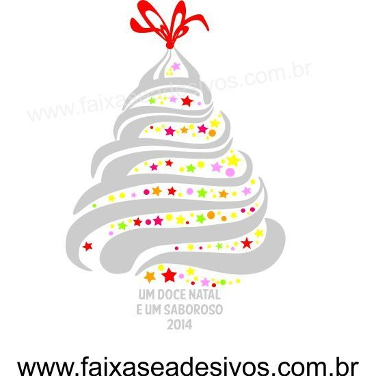 Adesivo Arvore de Natal Doce 1,20 x 0,80m - 2530  - Fac Signs