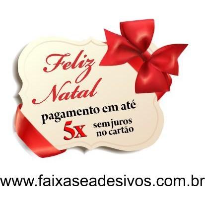 Adesivo Laço Fitas de Natal 50 x 40cm Varios Modelos  - Fac Signs