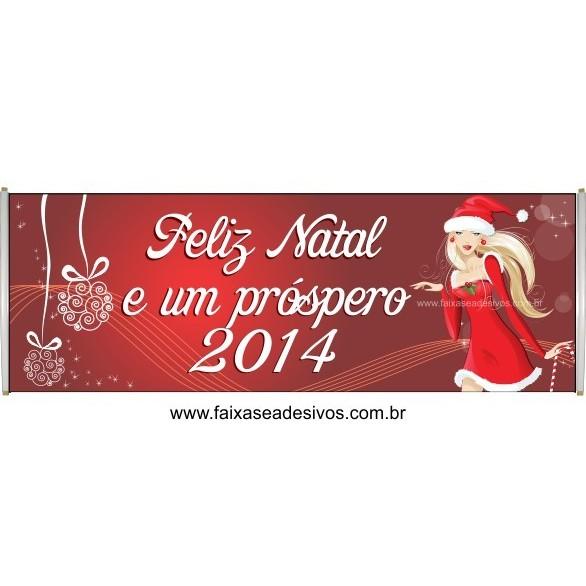 Faixa Feliz Natal para Clientes 2,50 x 0,70m  - Fac Signs