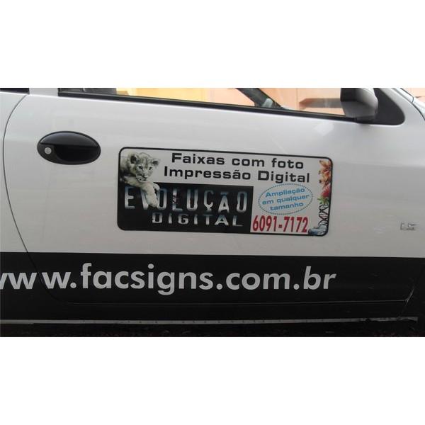 808 - Imã Flexivel para Carro 60x25cm - Envie arte pronta ou solicite a sua! Mais vendido!  - Fac Signs