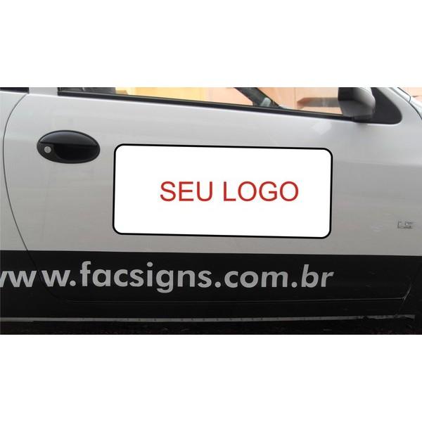 808 - Imã Flexivel para Carro 60x25cm - Envie arte pronta ou solicite a sua! Mais vendido!  - FAC Signs Impressão Digital
