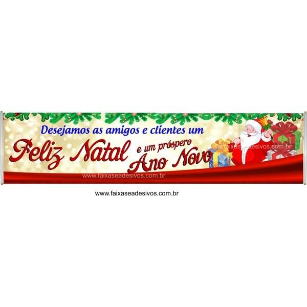 Faixa de Natal Comercial 3,00 x 0,70m  - Fac Signs