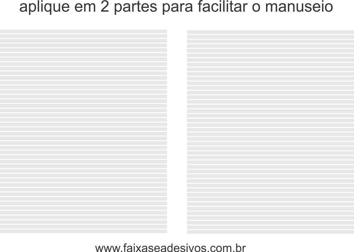 111 - Adesivo Persiana 2,10 x 0,70m - Tiras de 3cm - Escolha a cor  - Fac Signs