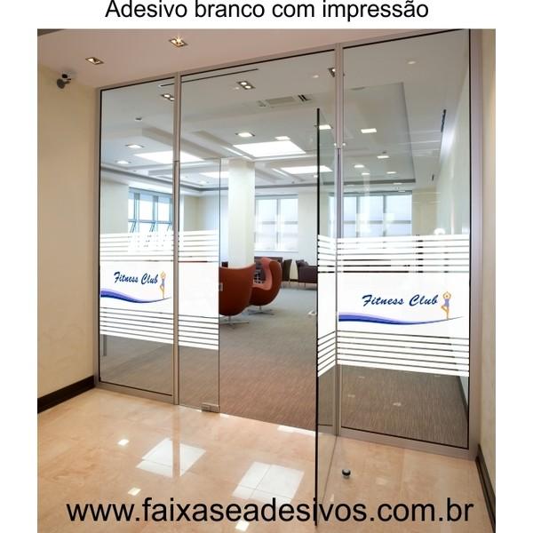 200 - Adesivo jateado Impresso com Logotipo 95 x 90cm  - Fac Signs