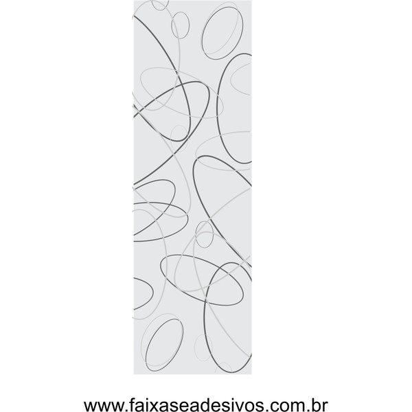 080- Adesivo Decorativo para Vidro Elipses 2,00 x 0,70m  - Fac Signs