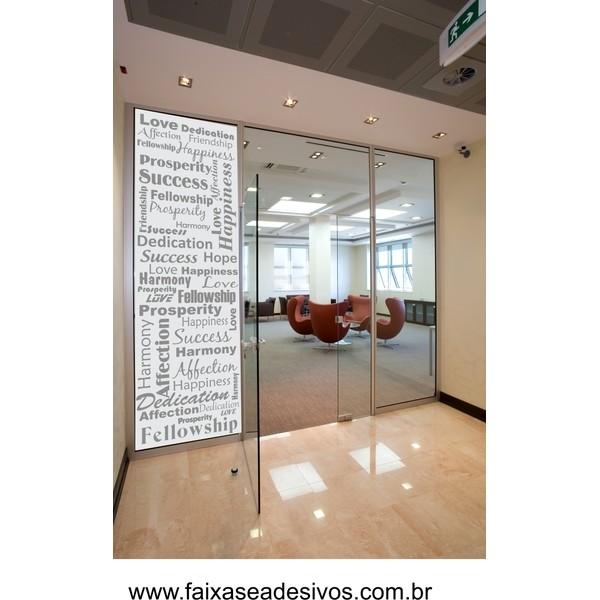 079 VD - Adesivo Decorativo para Vidro Texto Inglês 2,20 x 0,70m  - Fac Signs