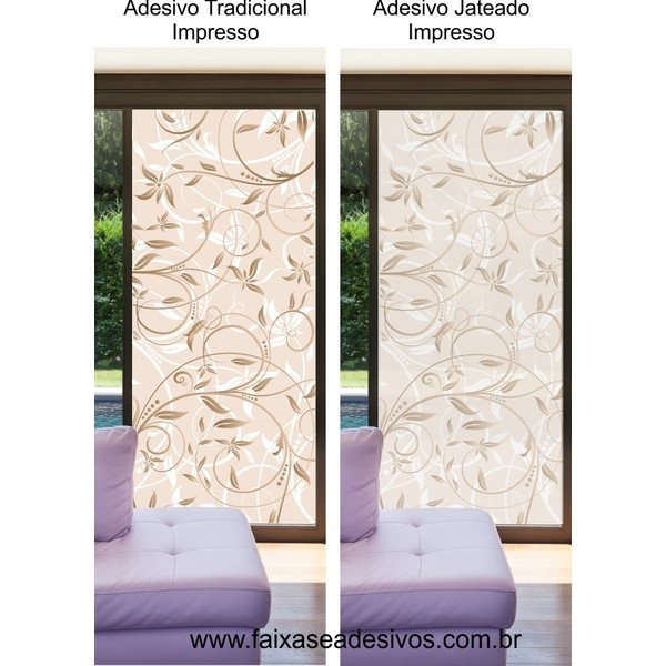 091 VD - Adesivo Decorativo Arabesco Floral  2,10 x 0,70m  - Fac Signs