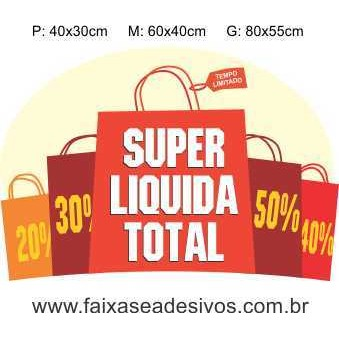 Adesivo Super Liquida Sacolas (P-M-G)  - Fac Signs