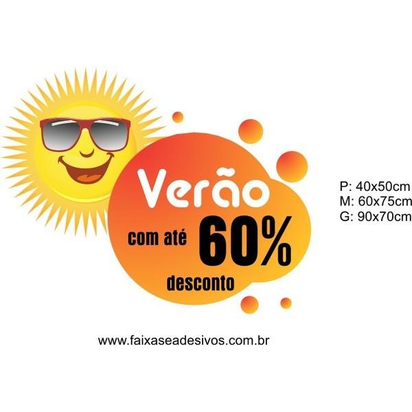 Adesivo Verão Sol de Óculos (P-M-G)  - FAC Signs Impressão Digital