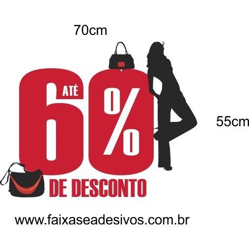 Adesivo Desconto BAG Silhueta 70 x 55cm  - Fac Signs