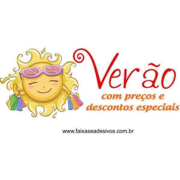 Adesivo Verão Feliz 60 x 65cm  - Fac Signs