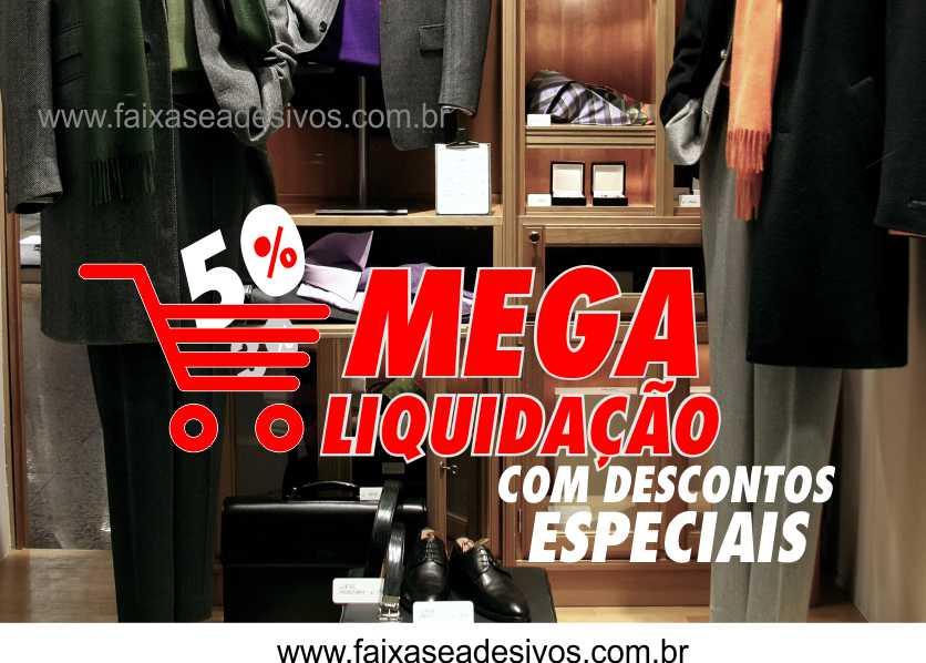 Adesivo Mega Liquida Loja 1,20 x 0,60m  - Fac Signs