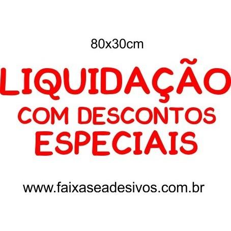 Adesivo Liquidação Especial 80 x 30cm  - Fac Signs