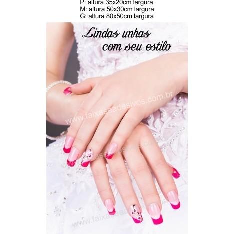 Adesivo Manicure New Unhas Decoradas 14I (P-M-G)  - Fac Signs