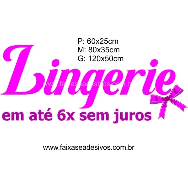 Adesivo Lingerie Laço 14K (P-M-G)  - Fac Signs